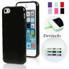 Silicone Case Fashion Soft Gel Jelly Cover Rubber Skin for Apple iPhone 5S SE 5