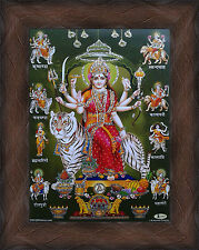 "Durga Maa Avatars Nav-Durga Poster - Photo Frame 7""x9"" (Table Top 