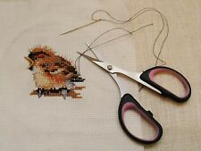 """Embroidery scissors.4"""" Very sharp points.Soft grip handles.LARGE finger holes."""