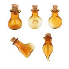 Vintage Glass Vial Bottles with Cork DIY Crafts Jewellery Mini Bottle Small Vase