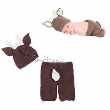 HOT Newborn Baby Boy Girl Crochet Knit Costume Photography Photo Prop Hat Outfit