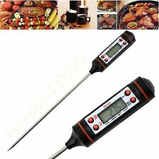 Digital Cooking Food Probe Meat Kitchen BBQ Selectable Sensor Thermometer EW