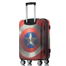 Captain America Suitcase Luggage Trolley wheeled Suitcases Bag Airplane Travel