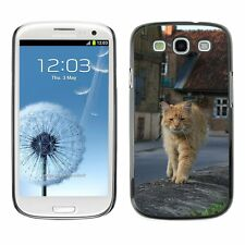 Hard Phone Case Cover Skin For Samsung Auburn old street fluffy cat