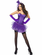 Ladies Fever Burlesque Purple Can Can Moulin Rouge Fancy Dress Costume