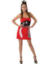 Ladies Cute Simple Pirate Wench Caribbean Fancy Dress Costume Dress