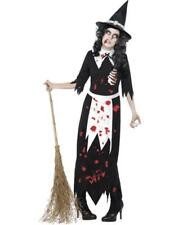 Ladies Zombie Dead Witch Witches Halloween Fancy Dress Outfit Costume