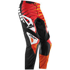 NEW Thor Mx Gear Phase Vented Rift Red Orange Adult Motocross Pants SALE SIZE 28