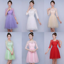 Lace/Short Women Formal Wedding Evening Ball Gown Party Prom Bridesmaid Dress