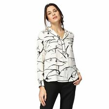 Principles Petite By Ben De Lisi Black And Ivory Scribble Print Petite Shirt