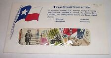 Texas Stamp Collection - 25 Cancelled U.S. Postage Stamps