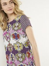 WHITE STUFF Perfect Day Tunic Top Pink Flowers Quirky Cute RRP £55 UK 8, 10, 14