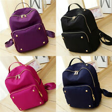 Women's Casual Travel Rivet Satchel Tote Shoulder Bags Nylon Backpacks Bookbags