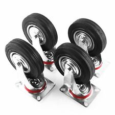 "4 X 5"" Heavy Duty Casters Swivel Caster Wheels with Plate & Brake Ball Bearing"