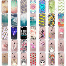 NEW Cat Patterned Soft TPU Silicone Clear Back Case Cover For iPhone 7 / 7 Plus