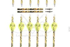 """24-33"""" Archery Hunting Camo Carbon Arrows for Compound  Recurve Bow Screw Tip"""