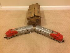 Lionel #2343 Santa Fe Twin Diesel Locomotive Engine Set Post-War 1950s With Box