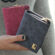 Leather Clutch Checkbook Change Coin Bag Women Purse Mini Ladies Handbag Wallets