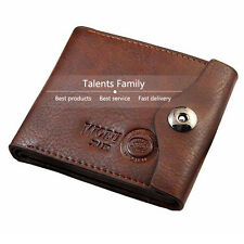 Trifold Men Hasp Wallet Leather Purse