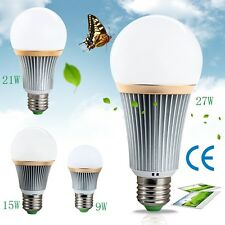 E27 Energy Saving LED Bulb Light Lamp 9W 15W 21W 27W Cool/Warm White