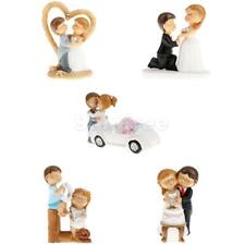 5 Styles Wedding Birthday Romantic Bride and Groom Cartoon Cake Topper Figurine