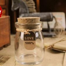 Clear Glass Favor Canister Treats Storage Jar Bottle Container w/ Cork