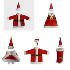 Christmas Wine Bottle Wrap Cover Bag Candy Holiday Party Favor Pouch Santa Suit