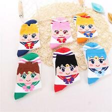 Lovely Lady Women Cartoon 3D Printing Striped Stocking Cotton Socks Elastic Xmas