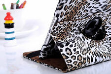 Luxury Leopard Print Leather Flip Stand Case Cover For Apple iPad Air 2 , Air 1