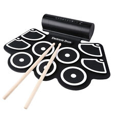 W760 Silicone Electronic Drum Kit Digital USB Roll-up with Drumstick Foot Pedal