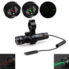 Hunting Red Green Dot Laser Sight Scope 1'' Picatinny Rail Mount for Pistol Gun