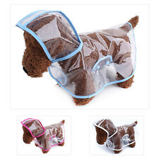 Transparent Waterproof Jacket Rainwear Hooded Pet Dog Raincoat Pet Clothes
