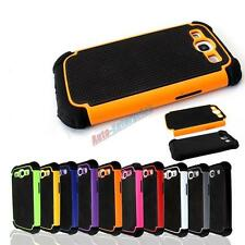 Dual Layer Combo Hybrid Hard Case Cover For Samsung Galaxy S3 i9300 SIII New