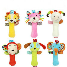 Cartoon Animal Infant Newborn Baby Rattle Hand Bells Cotton Plush Toys Dolls