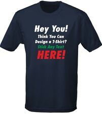 Printed Custom Your Any Text Personalised Workwear Mens T-Shirt 10 Colours (S-3X