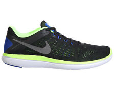 NEW MENS NIKE FLEX RUN RN 2016 RUNNING SHOES TRAINERS BLACK / GHOST GREEN / WHIT