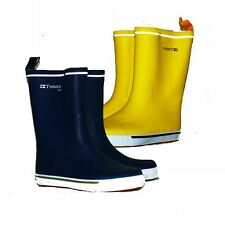 Unisex mid calf yachting lined wellington boots