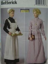 Sewing pattern for Victorian Edwardian maids dress and apron UNCUT