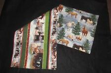 Handmade Quilted Table runner Christmas horses Barn Farm western cowboy