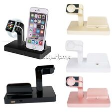 2 in 1 Charging Dock Station Bracket Cradle Stand Holder For iPhone Apple Watch