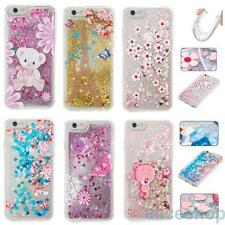 Bling Glitter Liquid Flower Bear Soft Case for iPhone 7 Pus 6S 5 iPod Touch 5th