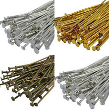 100Pcs Golden Silver Head Pins Finding Crafts Making 21 Gauge Any Size New