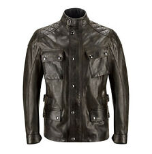 Belstaff Turner Black Hand Waxed Leather Classic Motorcycle Motorbike Jacket