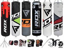 RDX Punching Bag Empty Boxing Punch Kick Gloves Set Heavy Training Chains LB 8PC