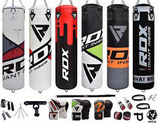 RDX Punching Bag Unfilled 13pc Heavy Boxing Punch Gloves Set Bracket Chains Kick