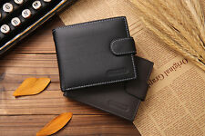 New Men Genuine Leather Bifold ID Credit Card Money Holder Wallet Purse Pockets