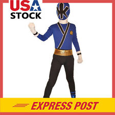 Blue Power Rangers costume kid Samurai cosplay child zentai Bodysuit Fancy Dress