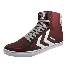 Hummel Slimmer Stadil Mono Hi Mens Classic Casual Retro Trainers Cabernet