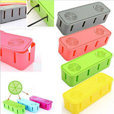 Power Safety Outlet Board Cables Strip Wire Storage Box Container Organizer