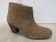 H by Hudson Kiver Beige Suede Leather Heel Ankle Chelsea Boot Shoe